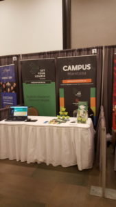 Set Your Course display booth at the Canadian Immigrant Career Fair.