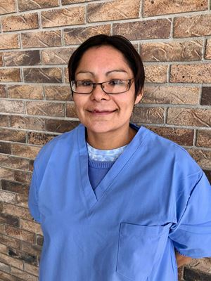 Health care aide student from Assiniboine Community College